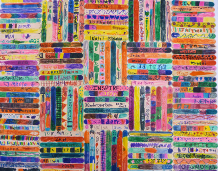 Popsickle art created by 6th grade class